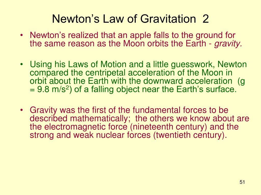 Newton's Law of Gravitation  2