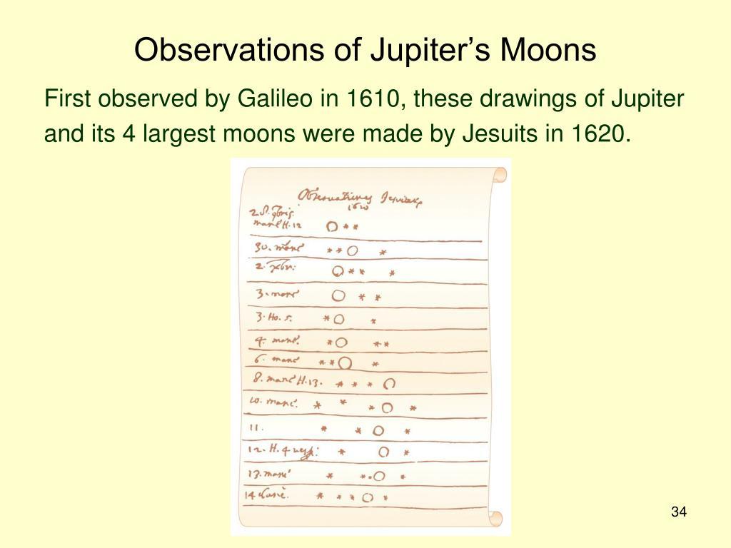 Observations of Jupiter's Moons