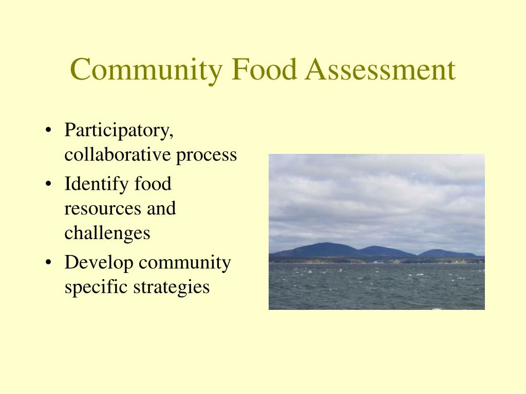 Community Food Assessment