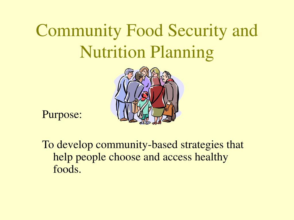 Community Food Security and Nutrition Planning