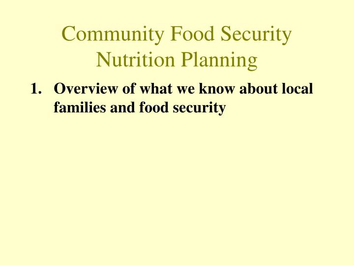 Community food security nutrition planning2