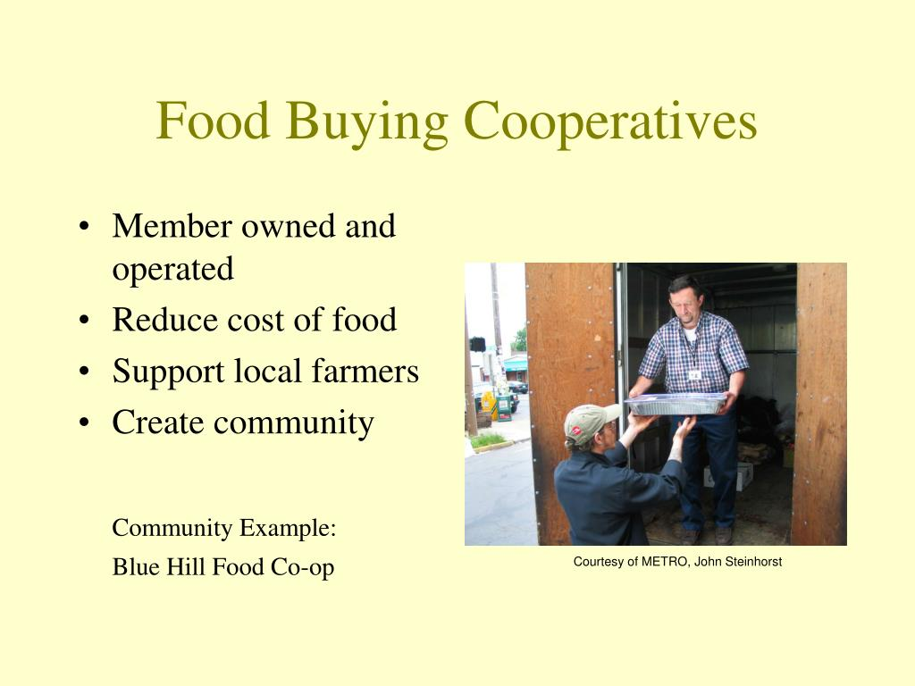 Food Buying Cooperatives