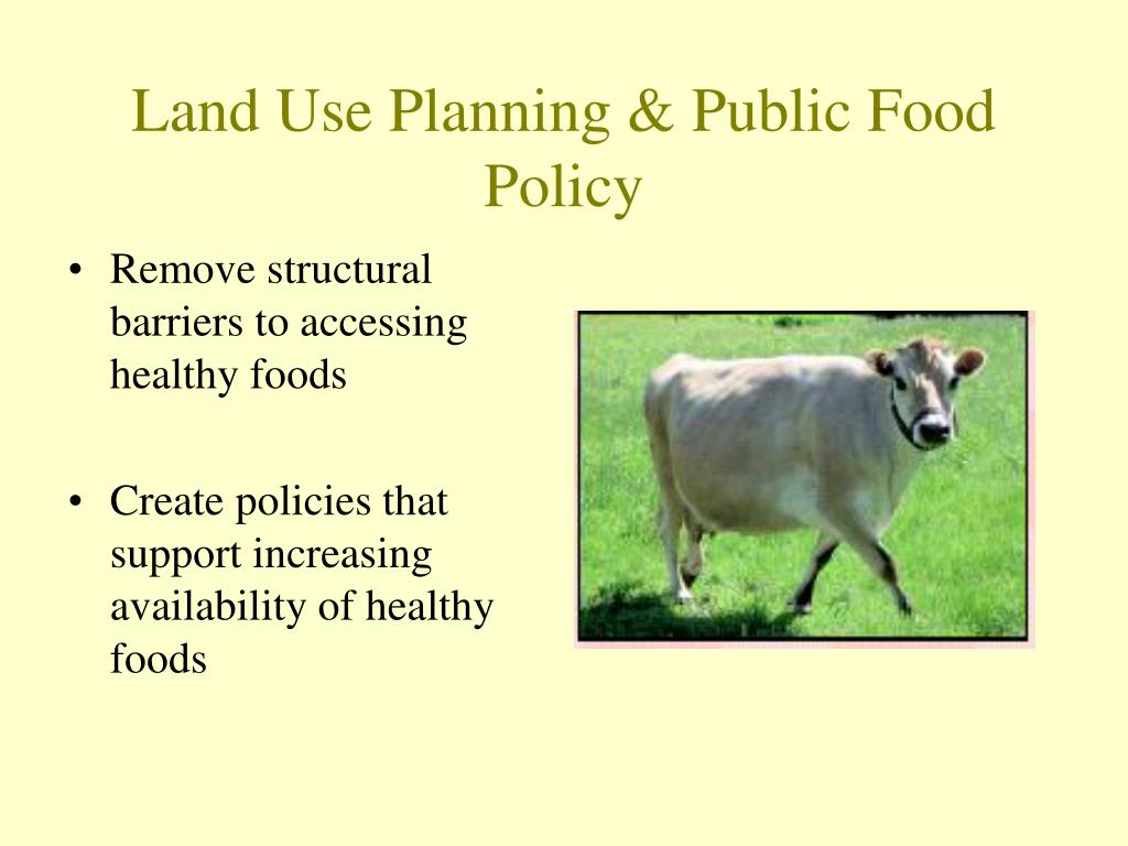 Land Use Planning & Public Food Policy