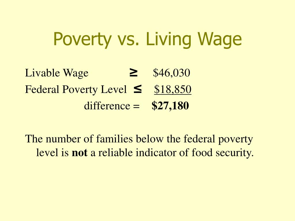 Poverty vs. Living Wage