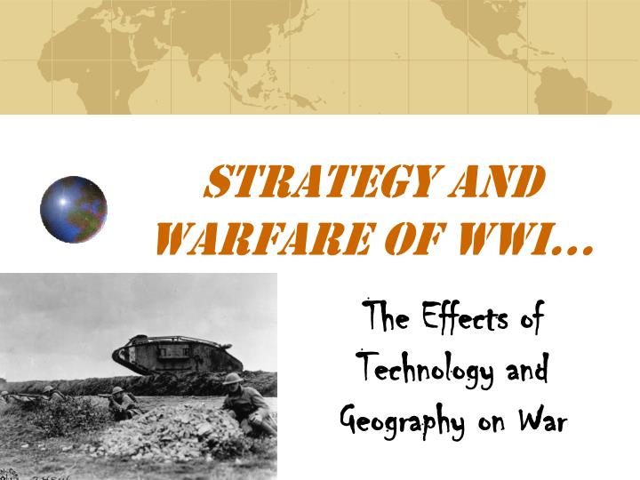"an analysis of the technology and many interweaving of wwi which resulted to the great war In the first world war: a concise global history, william storey attempts to present students with a concise overview of the great war, which ""takes into account human decisions and experiences as well as environmental and technological factors"" (3."
