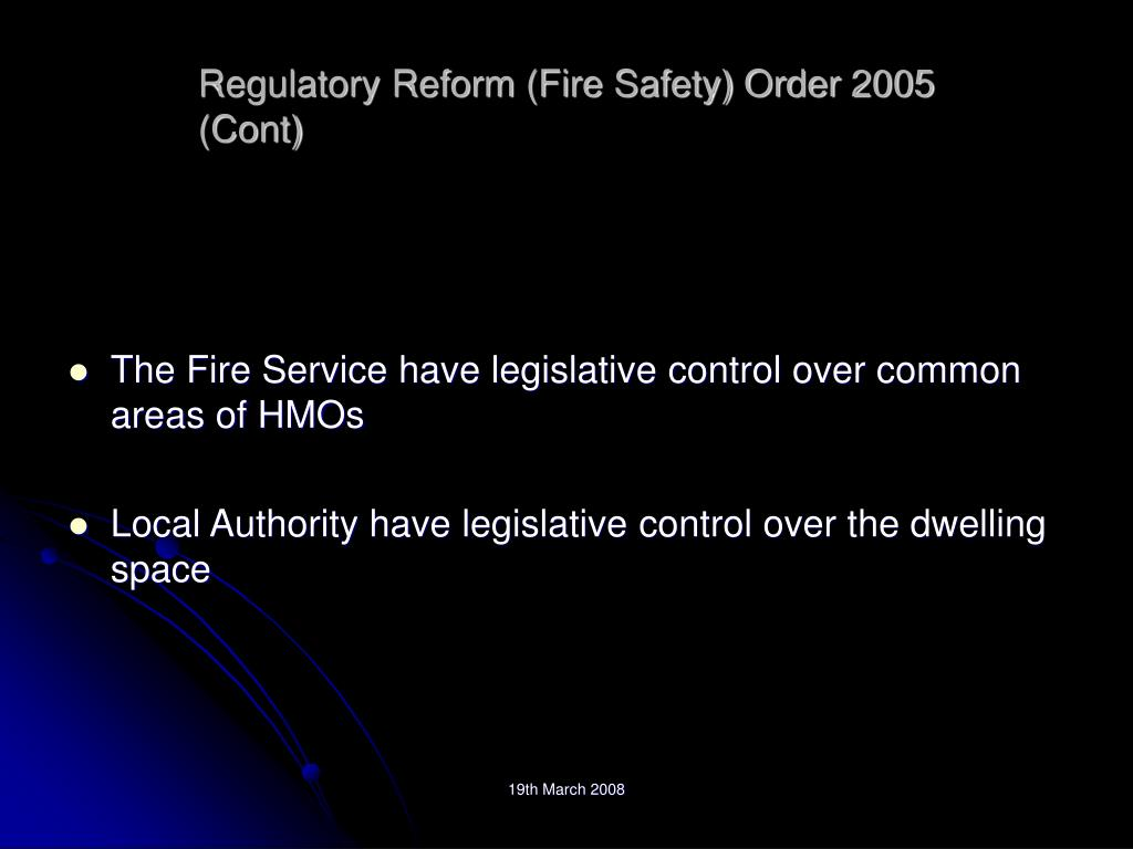 Regulatory Reform (Fire Safety) Order 2005