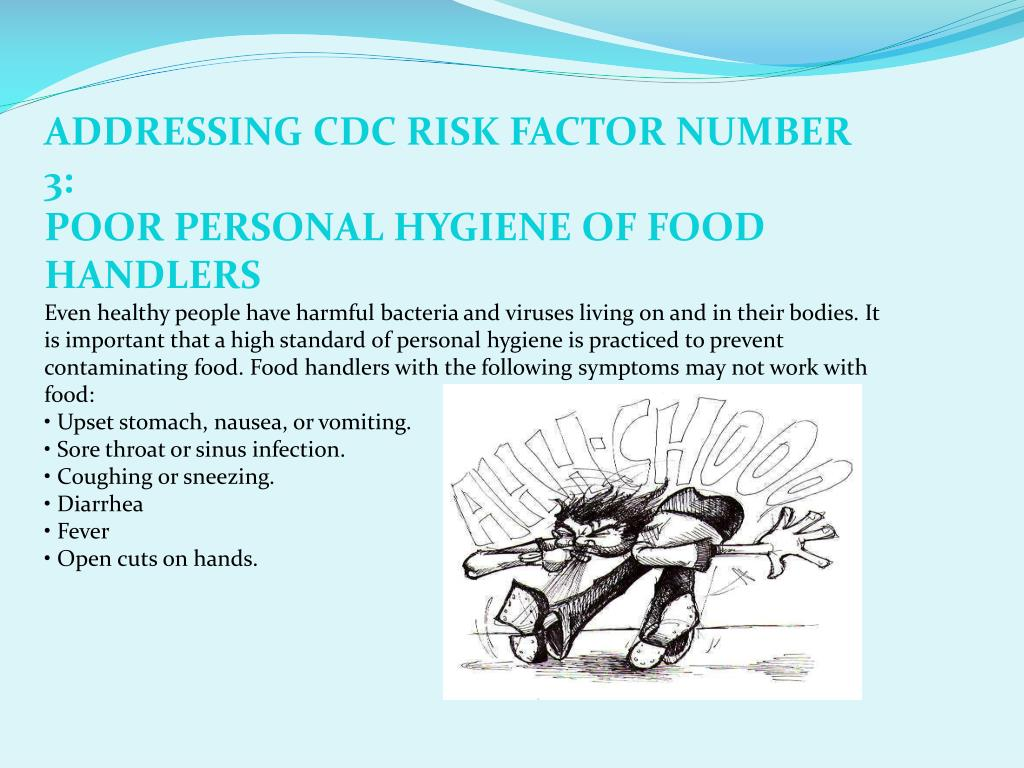 ADDRESSING CDC RISK FACTOR NUMBER 3: