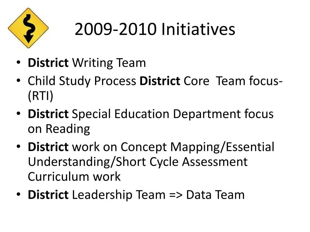 2009-2010 Initiatives