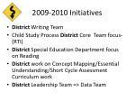 2009 2010 initiatives
