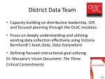 district data team