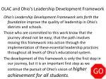 olac and ohio s leadership development framework