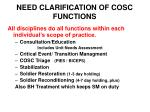 need clarification of cosc functions