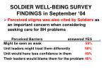 soldier well being survey findings in september 0413