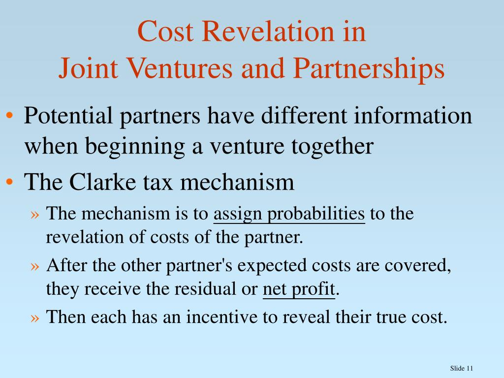 Cost Revelation in