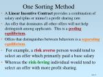 one sorting method