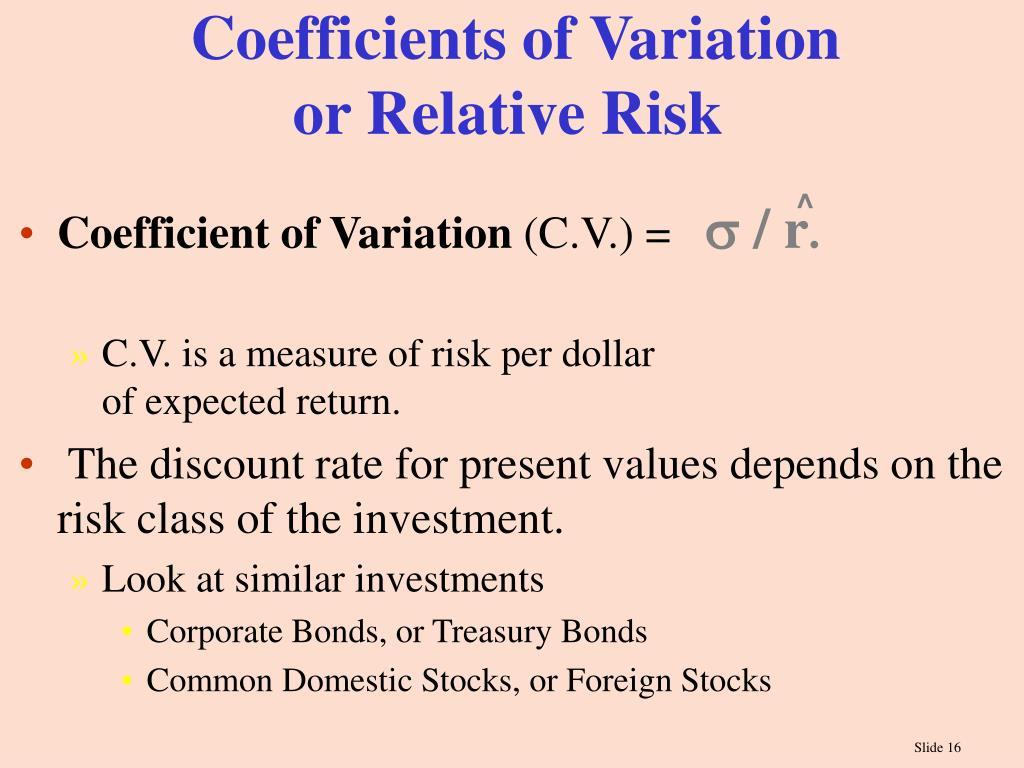Coefficients of Variation