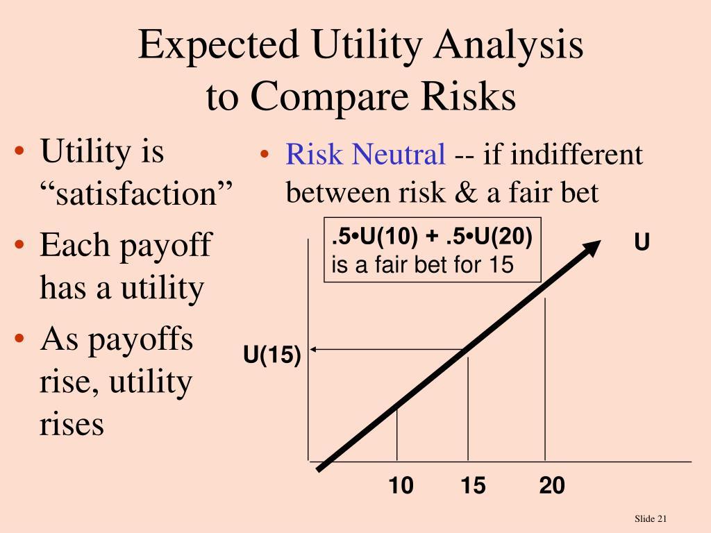 """Utility is """"satisfaction"""""""