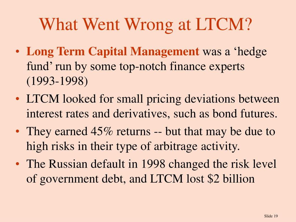 What Went Wrong at LTCM?