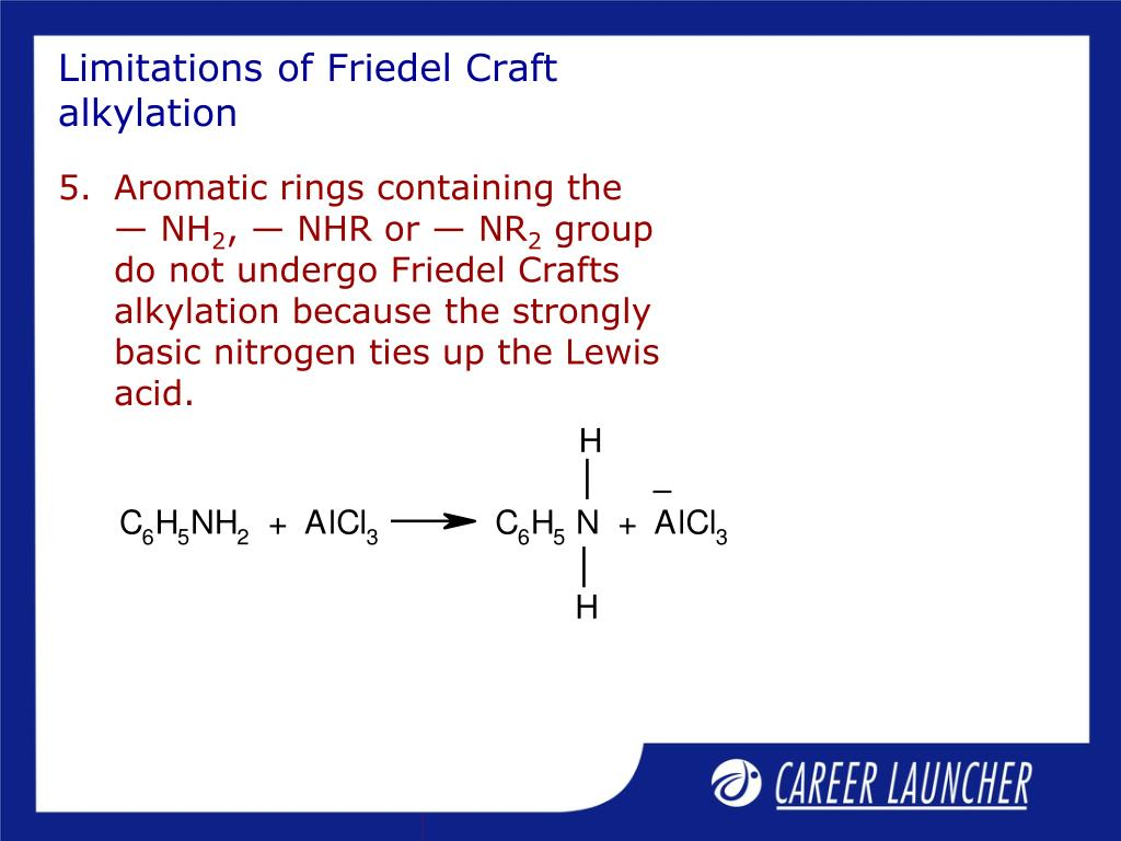 Limitations of Friedel Craft alkylation