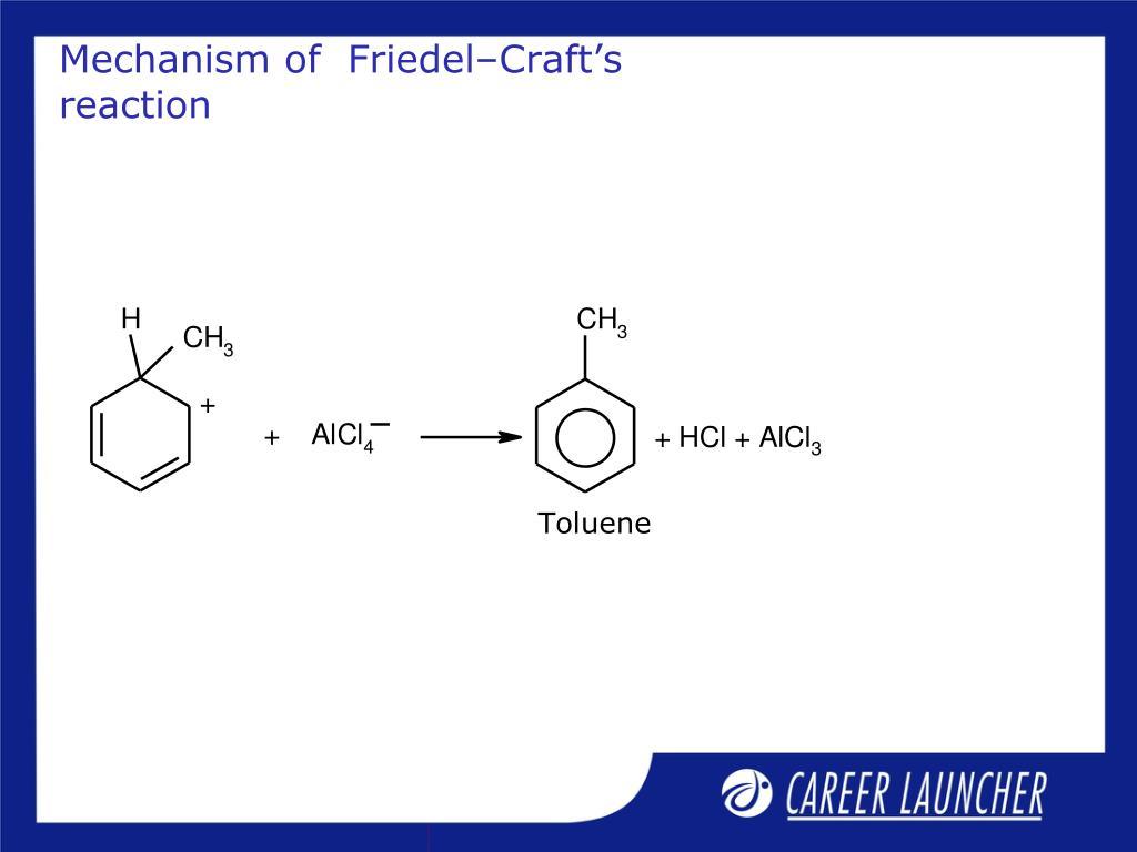 Mechanism of  Friedel–Craft's reaction