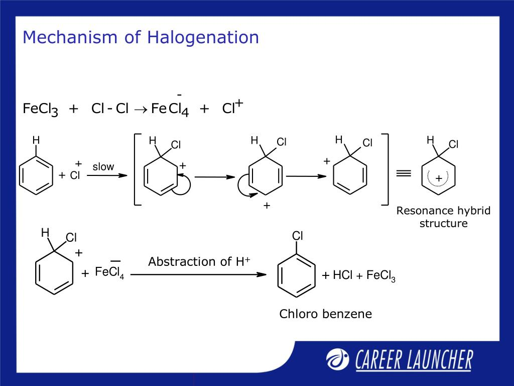 Mechanism of Halogenation