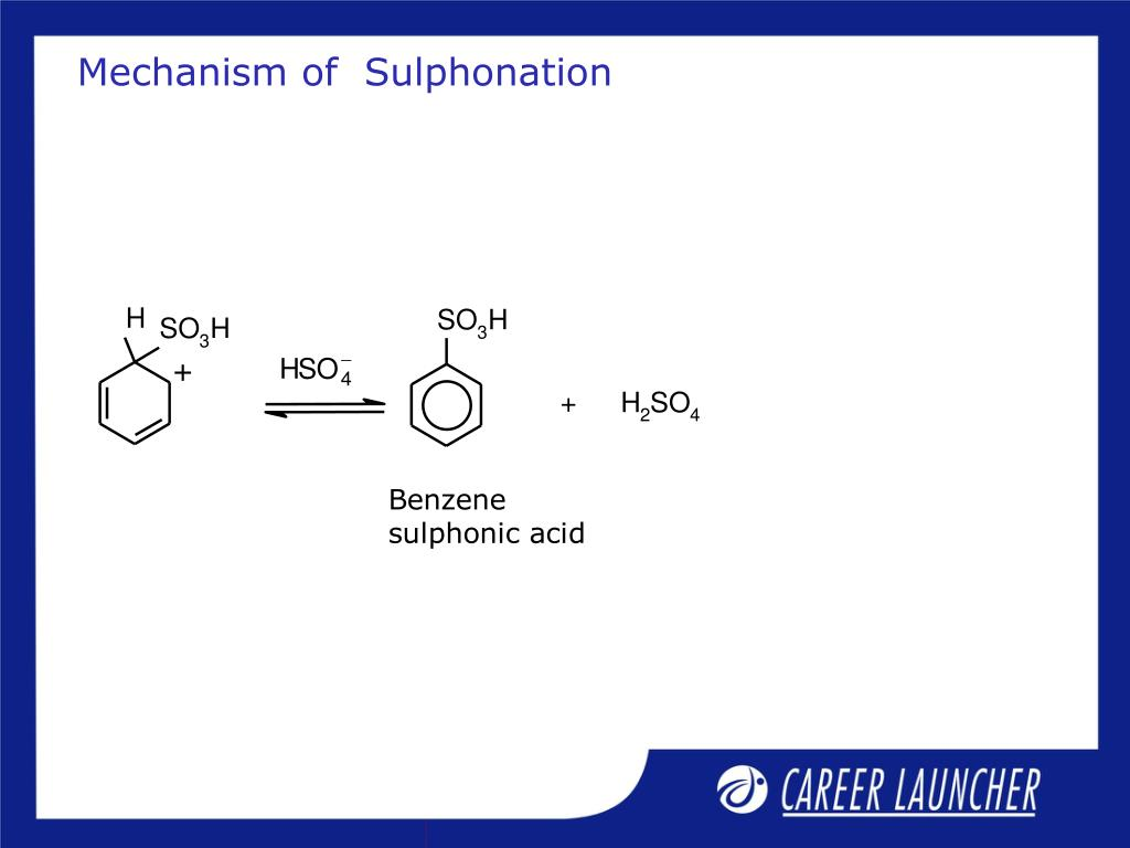 Mechanism of  Sulphonation