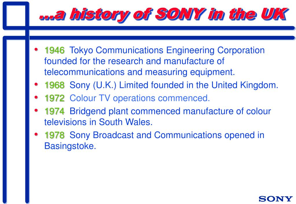...a history of SONY in the UK