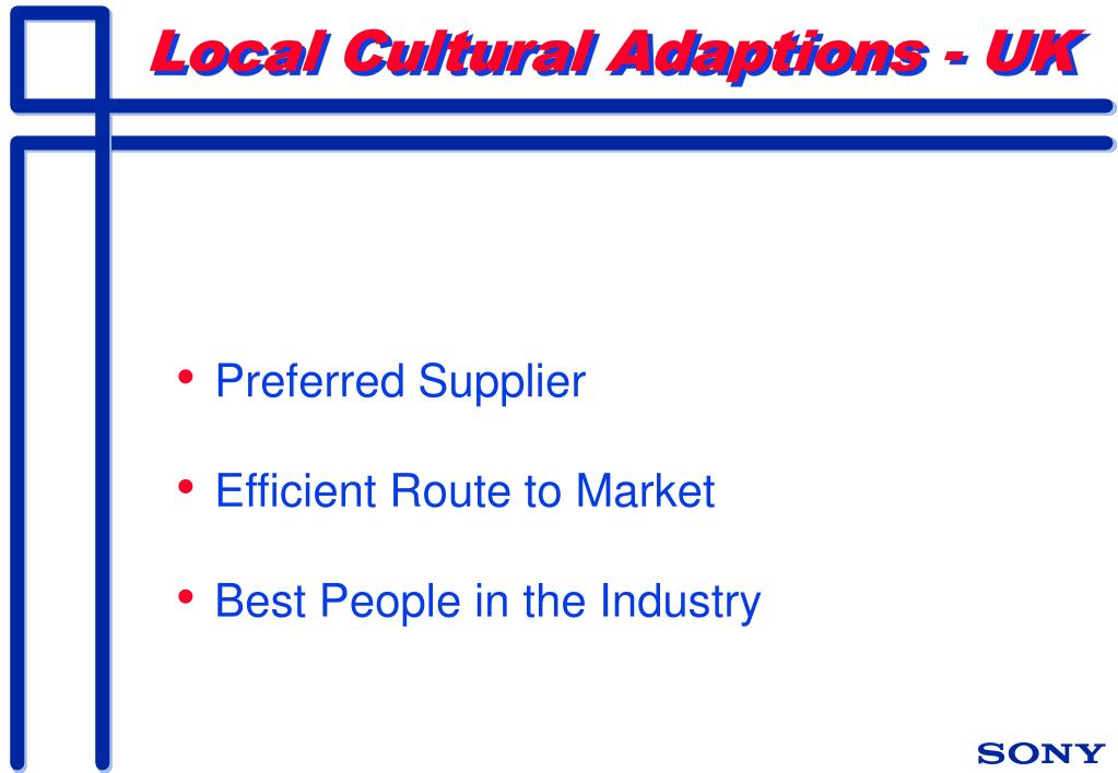 Local Cultural Adaptions - UK