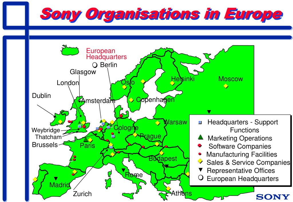 Sony Organisations in Europe