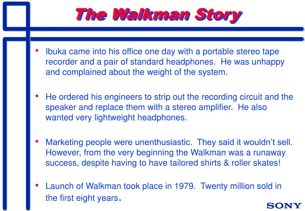 The Walkman Story