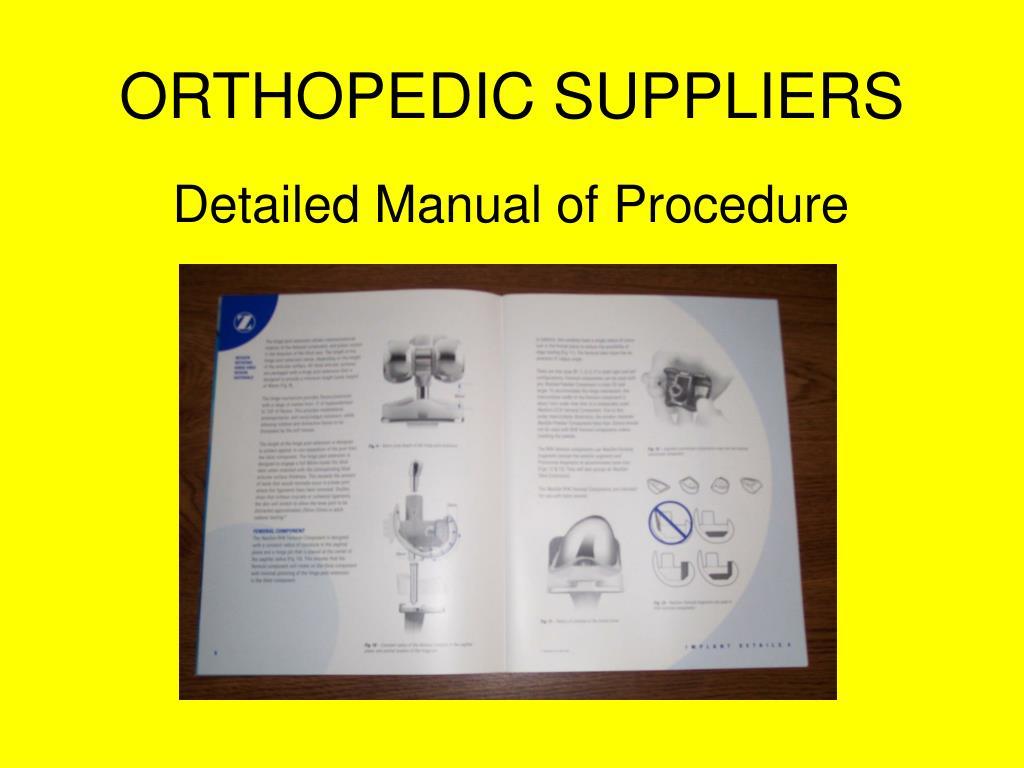 ORTHOPEDIC SUPPLIERS