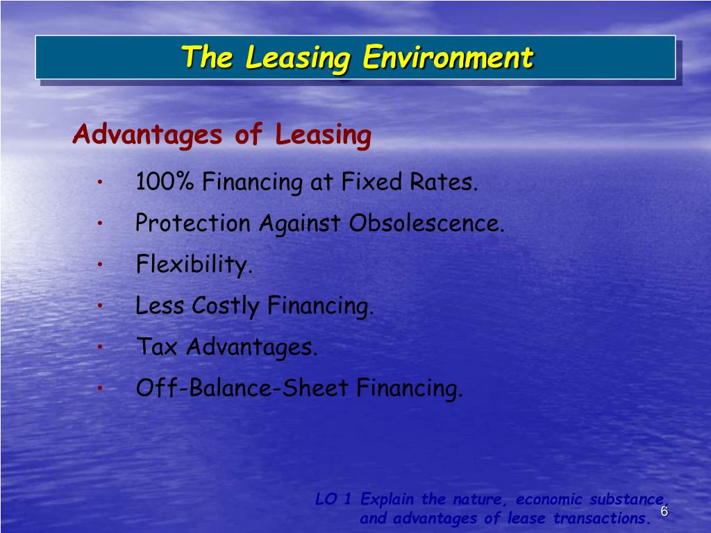 The Leasing Environment