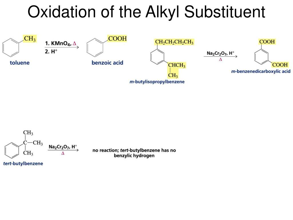 Oxidation of the Alkyl Substituent