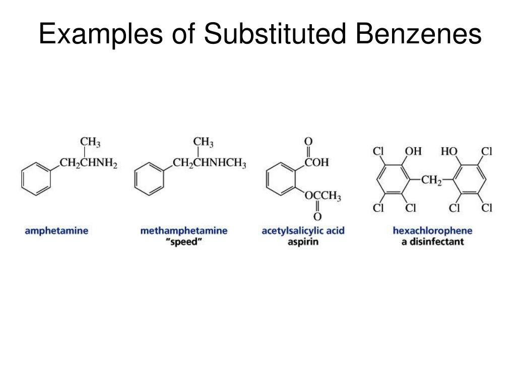 Examples of Substituted Benzenes