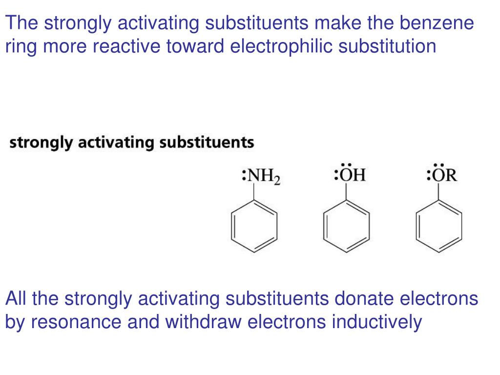 The strongly activating substituents make the benzene