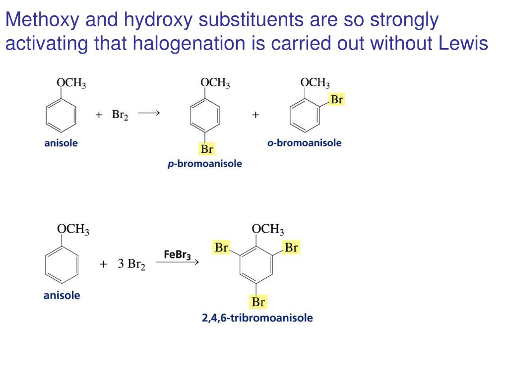 Methoxy and hydroxy substituents are so strongly