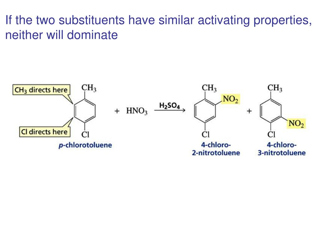 If the two substituents have similar activating properties,