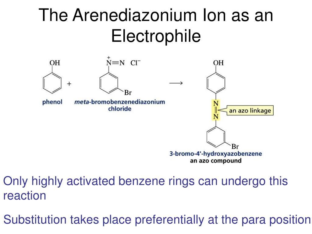 The Arenediazonium Ion as an Electrophile