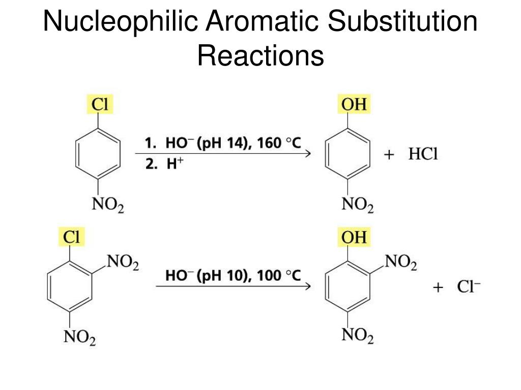 Nucleophilic Aromatic Substitution Reactions