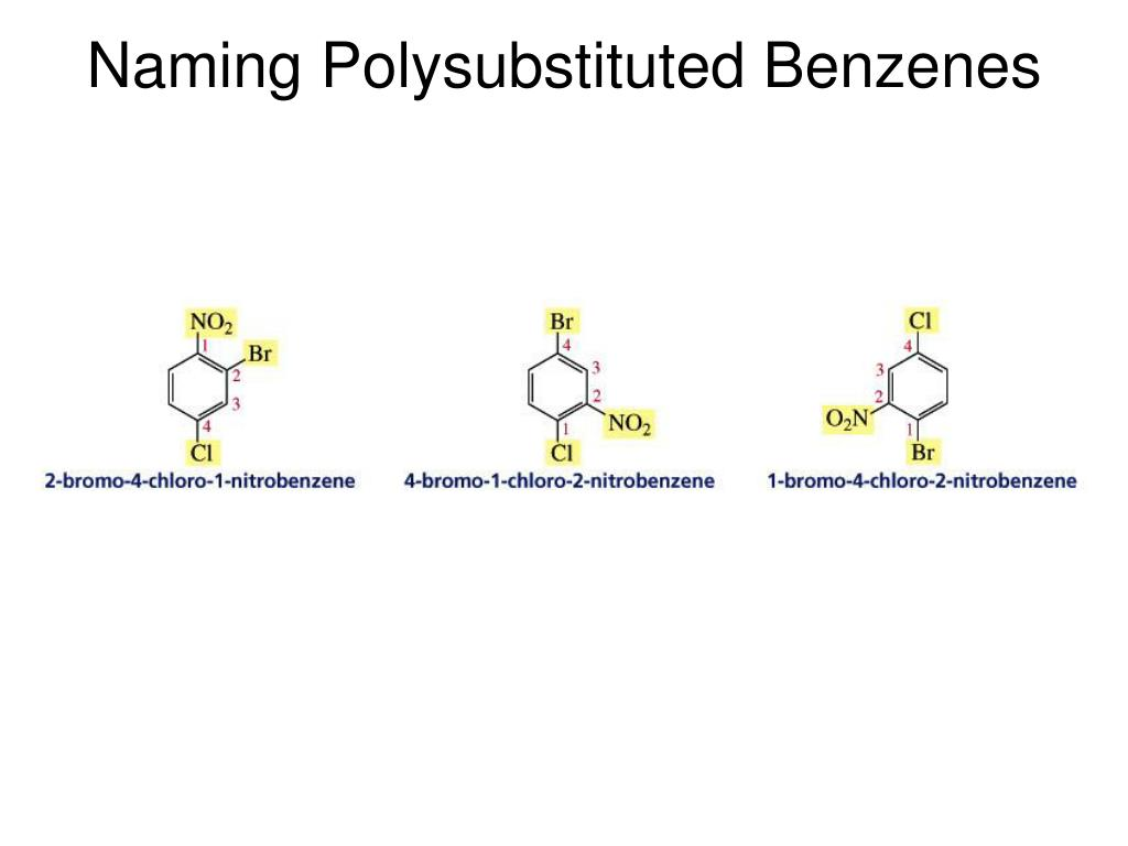 Naming Polysubstituted Benzenes