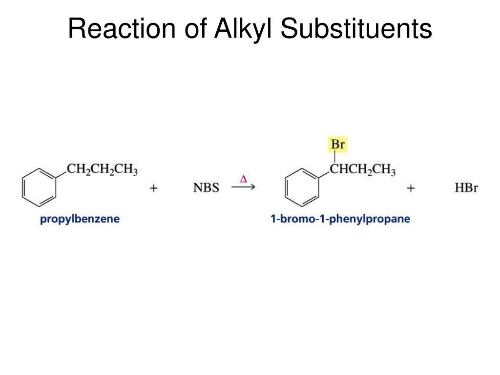 Reaction of Alkyl Substituents