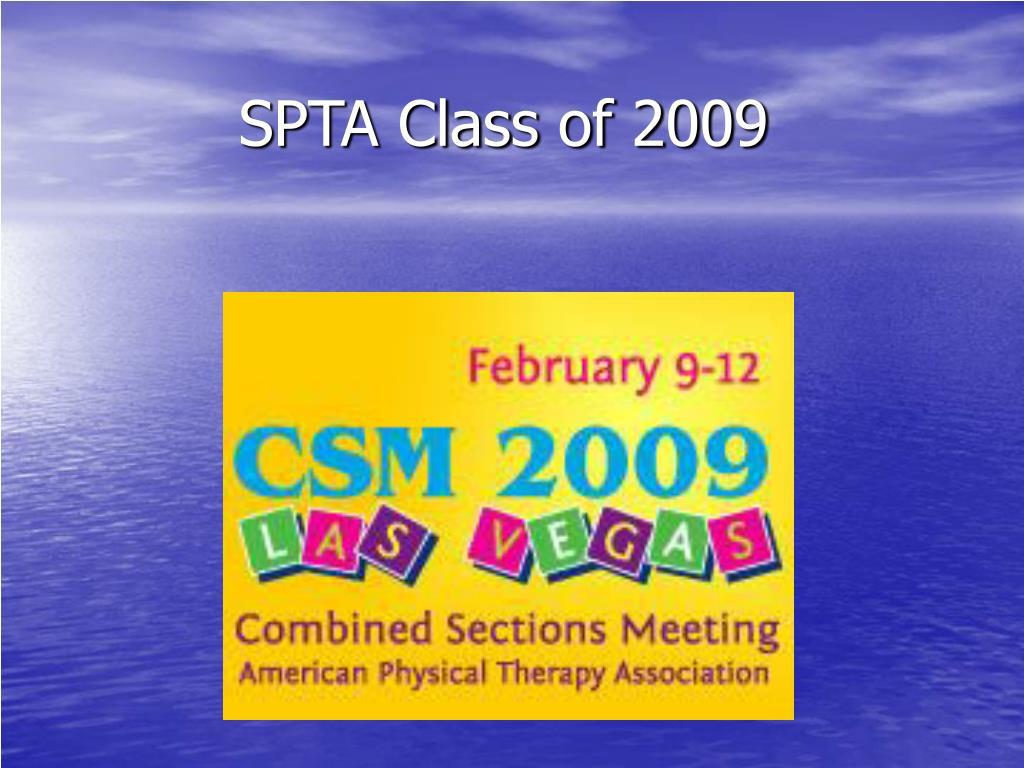 SPTA Class of 2009