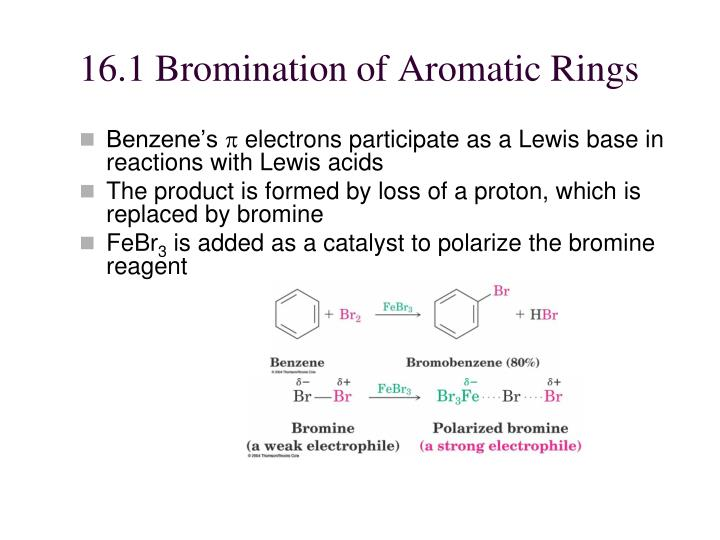 16 1 bromination of aromatic rings
