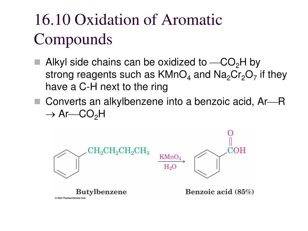 16.10 Oxidation of Aromatic Compounds