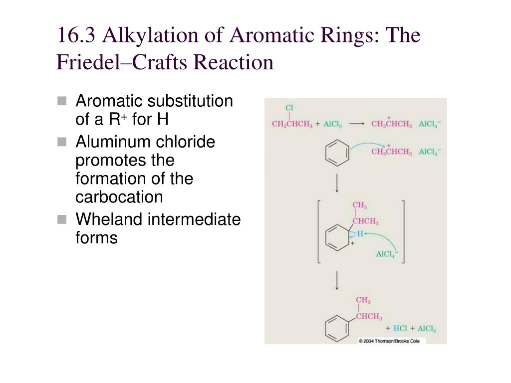 16.3 Alkylation of Aromatic Rings: The Friedel–Crafts Reaction