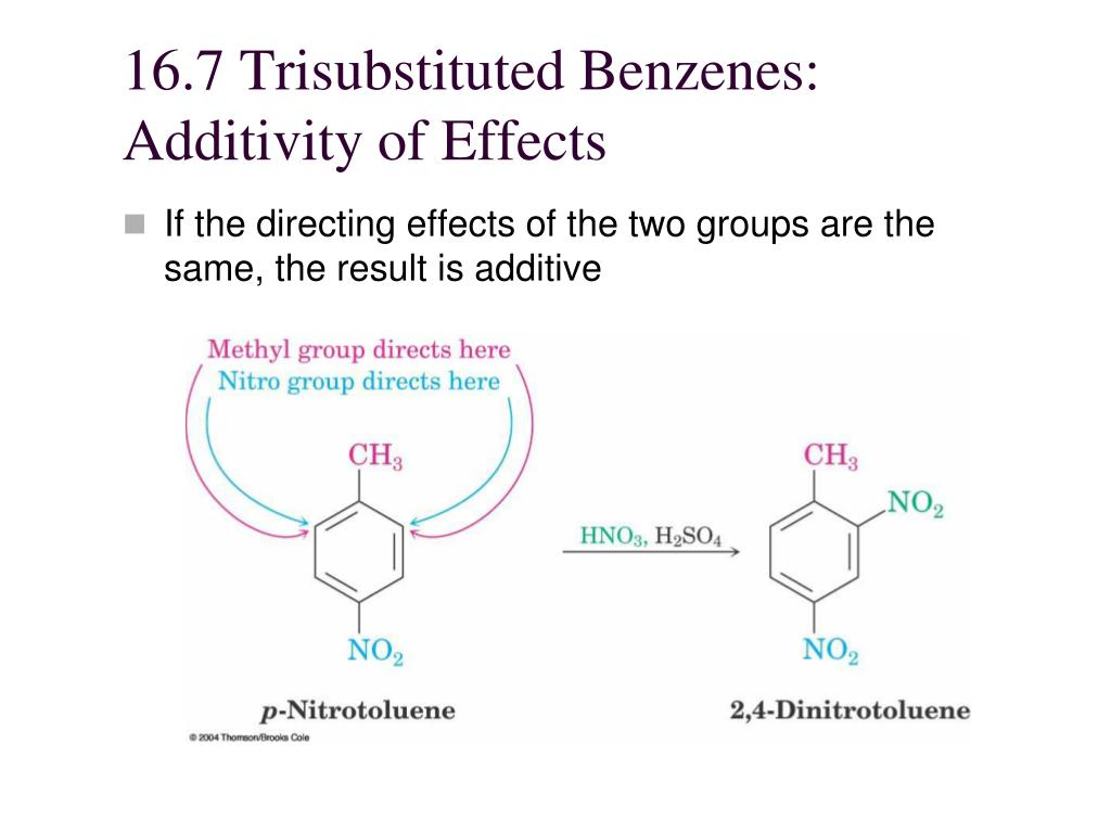 16.7 Trisubstituted Benzenes: Additivity of Effects