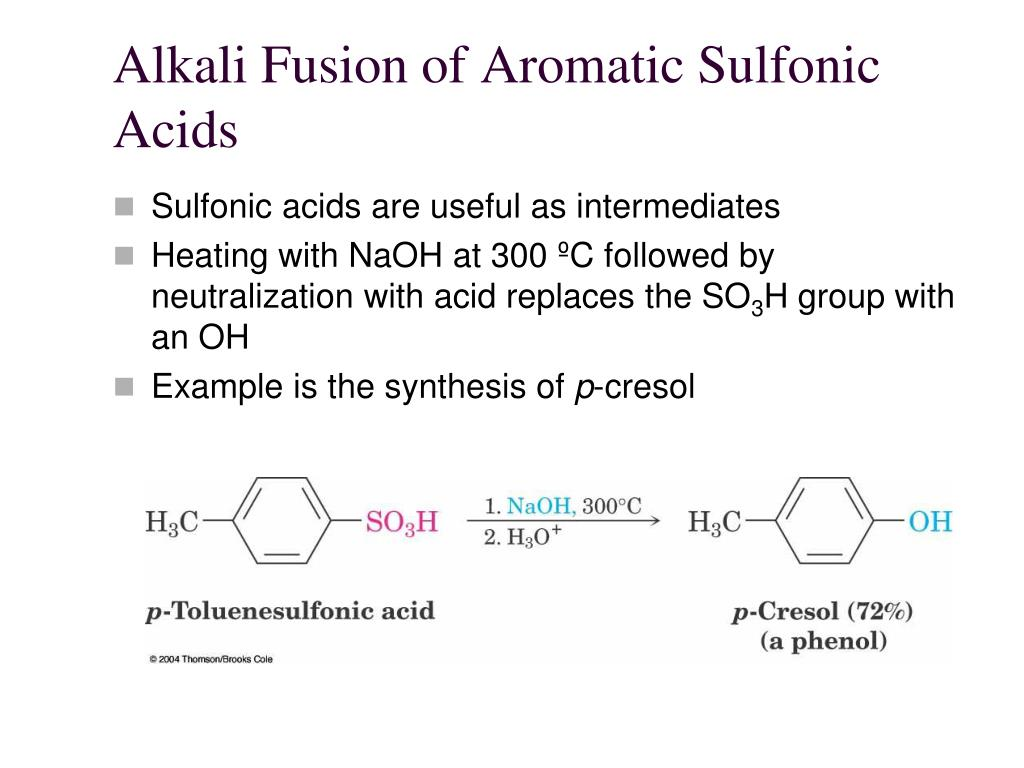 Alkali Fusion of Aromatic Sulfonic Acids