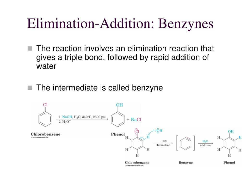 Elimination-Addition: Benzynes
