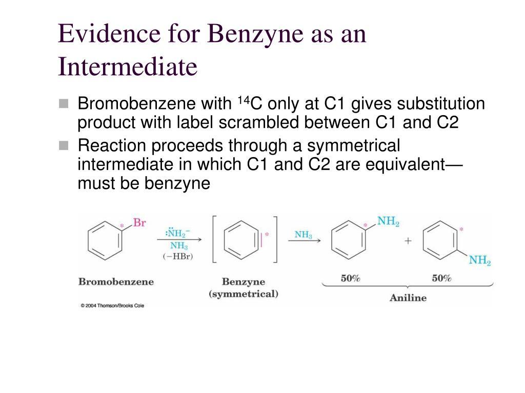Evidence for Benzyne as an Intermediate