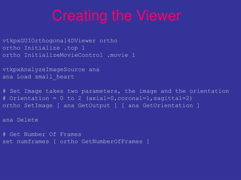 Creating the Viewer